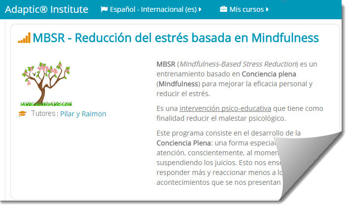 mindfulness mbsr online - adaptic - campus online